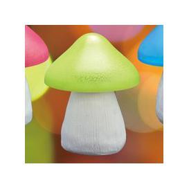 image-Bright Garden Mushroom Solar Light - Green
