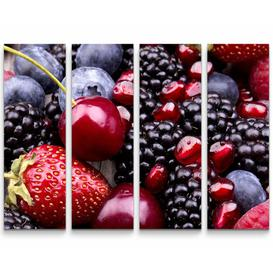 image-Sweet Summer Fruit on a Wooden Table Photographic Print Multi-Piece Image on Canvas East Urban Home