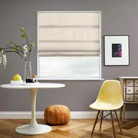 image-Hopsack Room Darkening Roman Blind Ebern Designs Size: 200 cm W x 200 cm L, Colour: Calico