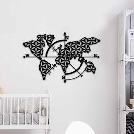 image-Metal Wall Décor Ebern Designs
