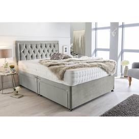 image-McMillan Plush Velvet Bumper Divan Bed Willa Arlo Interiors Size: Double (4'6), Storage Type: 2 Drawers Foot End