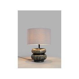 image-John Lewis & Partners Alp Ceramic Table Lamp, Grey
