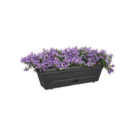 image-Plastic Balcony Planter ELHO Colour: Living Black, Size: 16.7cm H x 47.3cm W x 25.7cm D