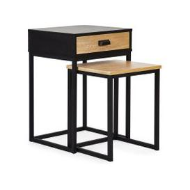 image-Greenwich Storage Nest of Tables Black and Brown
