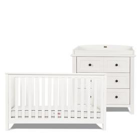 image-Nostalgia Cot Bed 2-Piece Nursery Furniture Set