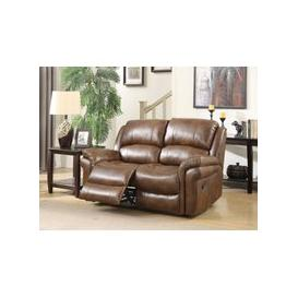 image-Farnham Tan Leather 2 Seater Electric Recliner Sofa
