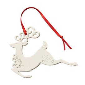 image-Christmas Reindeer with Gems Hanging Figurine Belleek Home