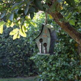 image-Hanging Birdhouse Blue Elephant Colour: Turqoise
