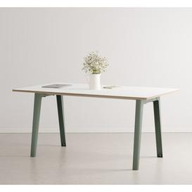 image-New Modern Rectangular table - / 160 x 95 cm - Laminate / 6 to 8 people by TIPTOE Grey