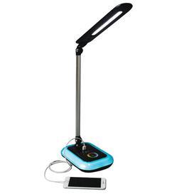 image-Wellness Glow LED 44cm Desk Lamp Symple Stuff Finish: Black