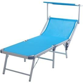 image-Reclining Sun Lounger Sol 72 Outdoor Colour: Blue
