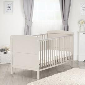 image-Juliet Lullaby Cot Bed with Mattress CuddleCo Colour: Dove Grey