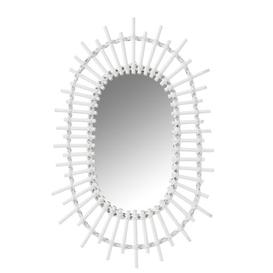 image-Dellview Oval Accent Mirror Bay Isle Home Finish: White