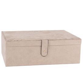 image-Beige Velvet Jewellery Box