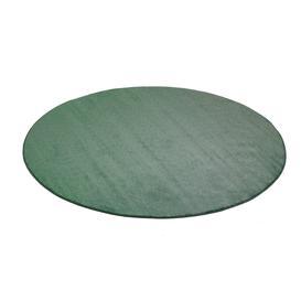 image-Round play mat KALLE, ├ÿ3000 mm, green