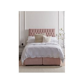 image-The Buttoned Kingsize Headboard - MallowLinen Cotton Blend