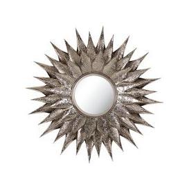 image-Serene Sitara Nickel Sunburst Mirror - 71cm x 71cm