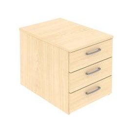 image-Paragon Low Mobile Pedestals, Oak, Free Delivered & Fully Installed Delivery