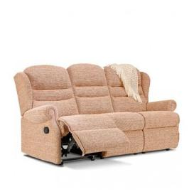 image-Sherborne Ashford Small 3 Seater Fabric Rechargeable Power Recliner Sofa