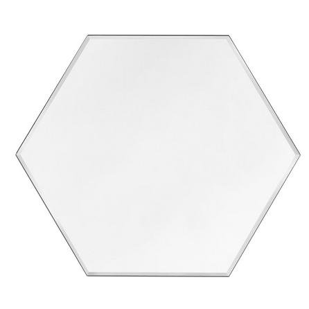 image-Hexagonal Bevelled Mirror Clear