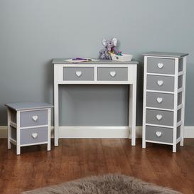 image-Hartleys Kids Grey & White Bedroom Set