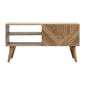 image-Linea 2 drawer TV unit