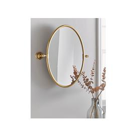 image-French Oval Mirror - Brass