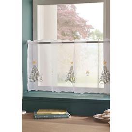 image-Christmas Tree Cafe Panel Curtain