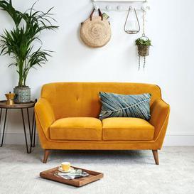 image-Freddie 2 Seater Mustard Sofa