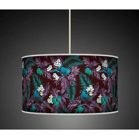image-Polyester Drum Shade Bay Isle Home Colour: Purple/Blue, Size: 26cm H x 50cm W x 50cm D, Type: Ceiling/Wall