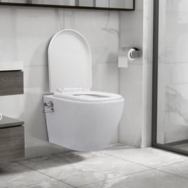 image-Faysal Wall Hung Toilet with Soft Close Seat Belfry Bathroom