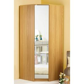 image-Corner Wardrobe with Mirror