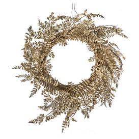 image-Clermont Golden Leaf Wreath