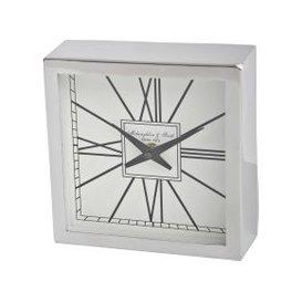 image-Libra Square Silver Mantel Clock