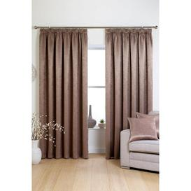 image-Rosa Woven Blockout Pencil Pleat Curtains