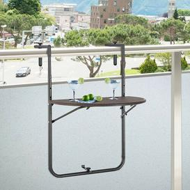 image-Seamus Folding Rattan Balcony Table Sol 72 Outdoor