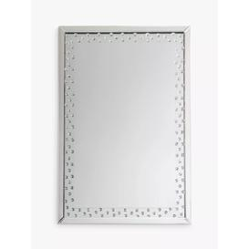 image-Eastmoor Rectangular Decorative Crystals Glass Frame Mirror, Clear