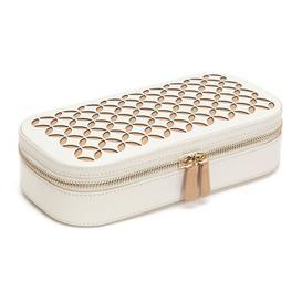 image-Chloé Zip Jewellery Box WOLF Colour: Cream