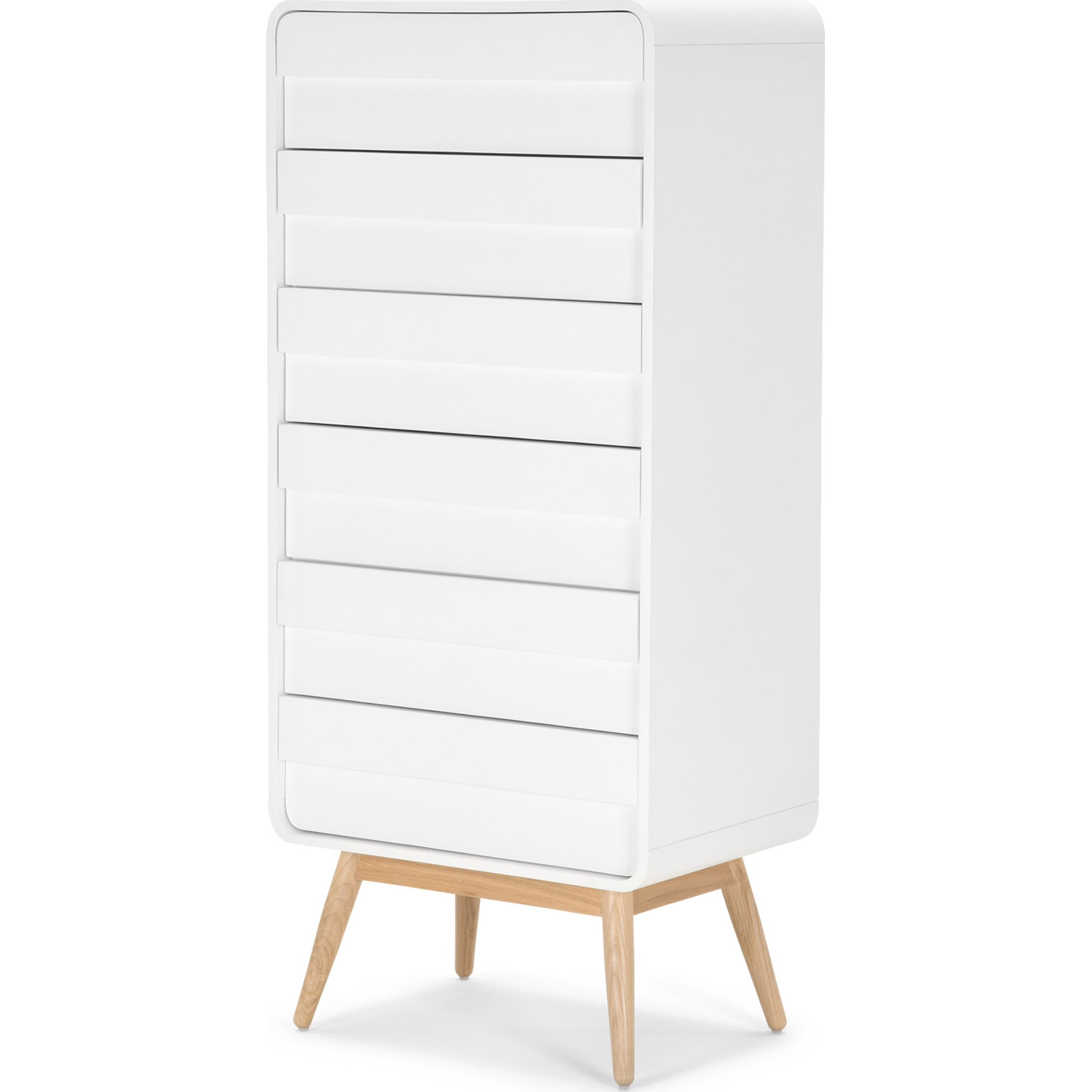 image-Esme Tall Chest, White and Ash