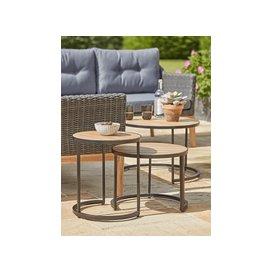 image-NEW Three Indoor Outdoor Industrial Nesting Tables