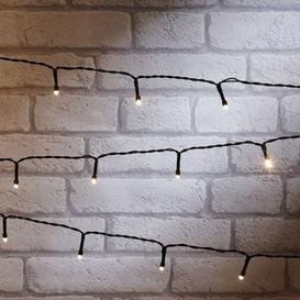 image-600 LED Warm White Outdoor Static String Lights Battery 40m