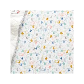 image-Pottery Barn Kids Organic Emery Elephant Print Fitted Cot Sheet, 70 x 132cm, Multi