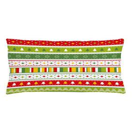 image-Baarde Christmas Borders Outdoor Cushion Cover Ebern Designs