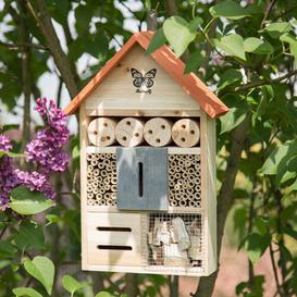 image-Sergei Insect Hotel Hanging Bee Butterfly and Ladybird House Dakota Fields Colour: Orange