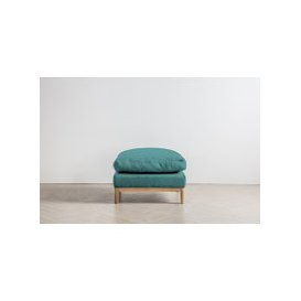 image-Nora Footstool in Turkish Blue