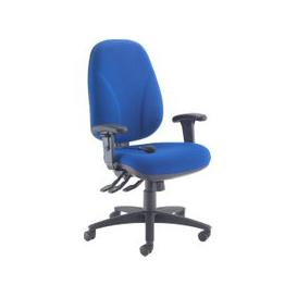image-Orchid Deluxe Lumbar Pump Ergonomic Operator Chair With Height Adjustable Arms, Blue