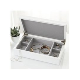 image-Lacquer Jewellery Box Lid, White, One Size