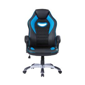 image-Gaming Chair Symple Stuff Colour: Sky Blue/Black