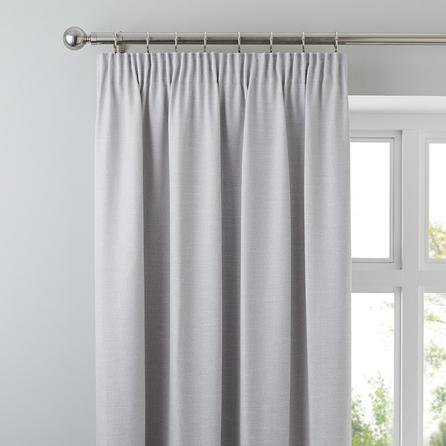 image-Brighton Dove Grey Textured Pencil Pleat Curtains Dove grey