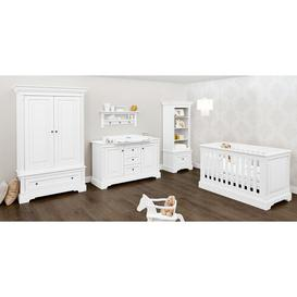 image-Emilia Cot Bed 3-Piece Nursery Furniture Set Pinolino Size (Changing Unit): Wide (H 101cm x W 150cm x D 78cm), Size (Wardrobe): 3-door (H 208cm x W 17